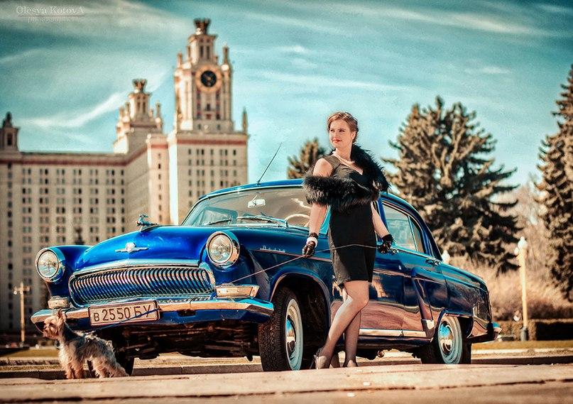 Ретро автомобиль для фотосессии