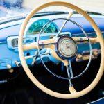 Руль в голубой волге